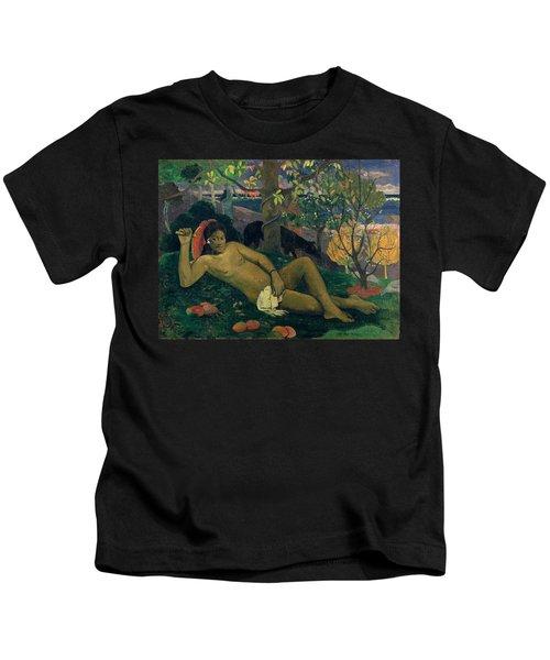 The Kings Wife Kids T-Shirt by Paul Gauguin