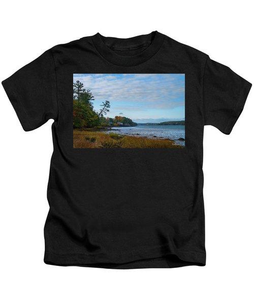 The Maine Coast Near Edgecomb  Kids T-Shirt