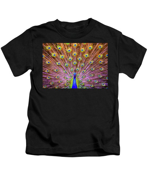 The Majestic Peacock Kids T-Shirt