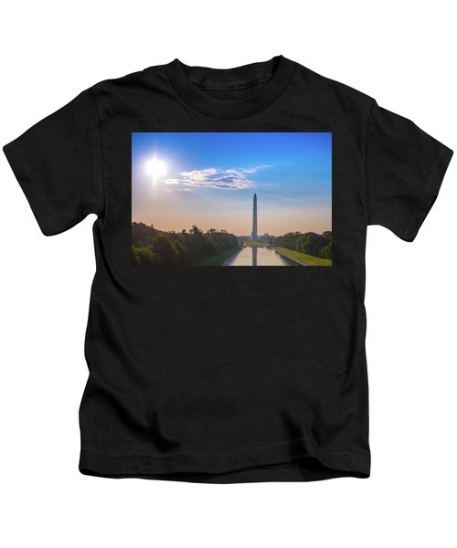 The Mall, Sky, Sun And Clouds Kids T-Shirt