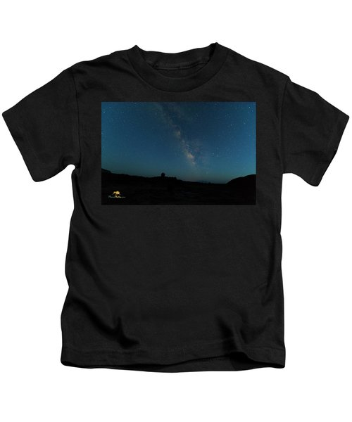 The Milky Way At Goblin Valley Kids T-Shirt