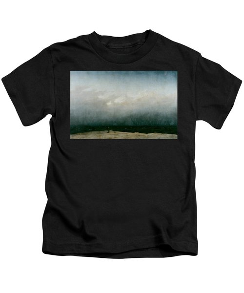 Monk By The Sea  Kids T-Shirt