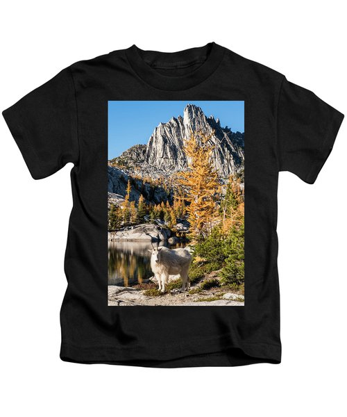 The Mountain Goat In The Enchantments Kids T-Shirt