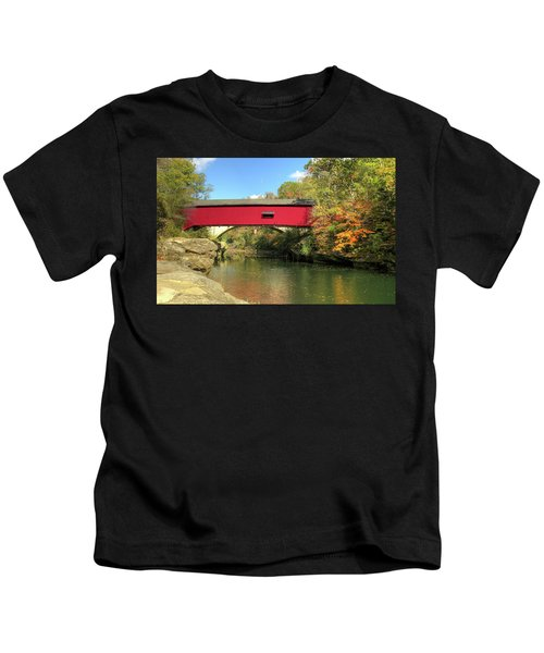 The Narrows Covered Bridge - Sideview Kids T-Shirt