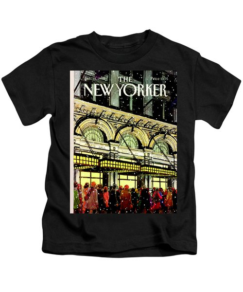 The New Yorker Cover - January 18th, 1988 Kids T-Shirt