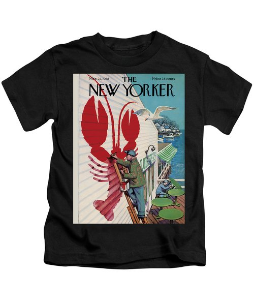 The New Yorker Cover - March 22, 1958 Kids T-Shirt