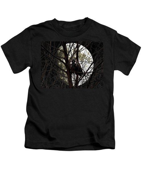 The Night Owl And Harvest Moon Kids T-Shirt