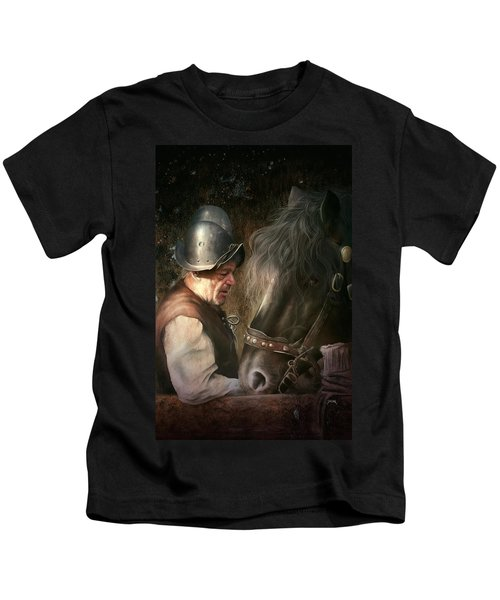 The Old Man And His Trusty Friend Kids T-Shirt