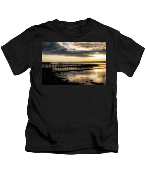 The Old Pier In Culross, Scotland Kids T-Shirt