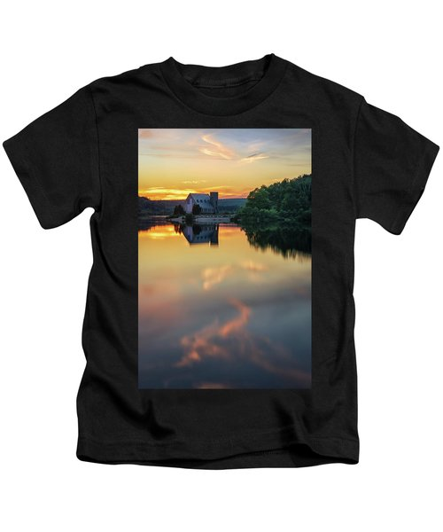 The Old Stone Church At Sunset Kids T-Shirt