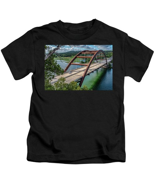 The Pennybacker Bridge Kids T-Shirt