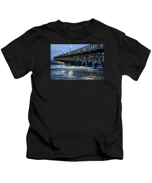 The Pier At The Break Of Dawn Kids T-Shirt