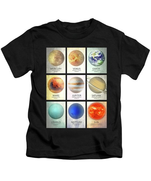 The Planets Kids T-Shirt by Mark Rogan