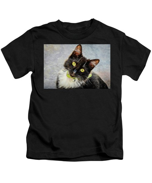 The Portrait Of A Cat Kids T-Shirt