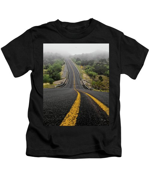 The Road Goes On Forever And The Party Never Ends Kids T-Shirt