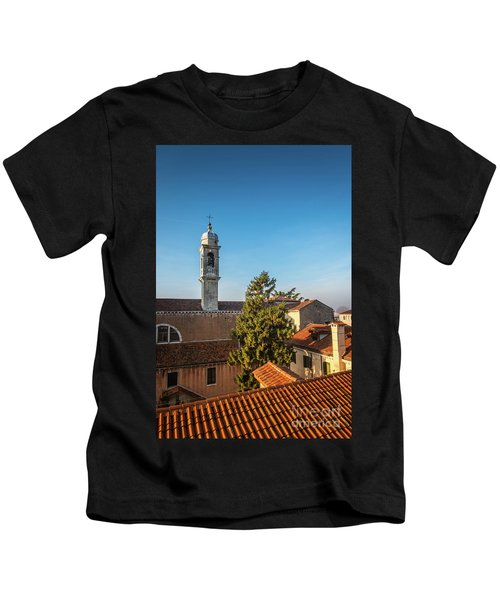 The Roofs Of Venice Kids T-Shirt