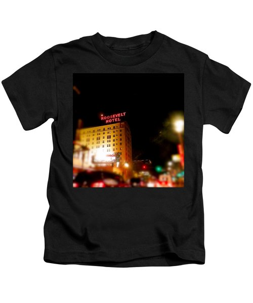 The Roosevelt Hotel By David Pucciarelli  Kids T-Shirt