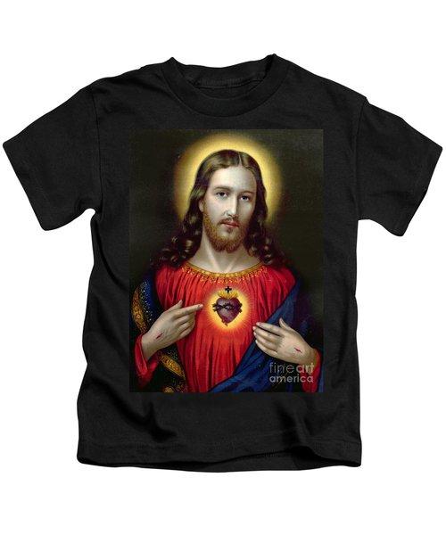 The Sacred Heart Of Jesus Kids T-Shirt