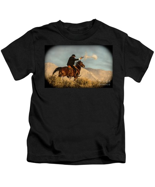 The Sharp Shooter Western Art By Kaylyn Franks Kids T-Shirt