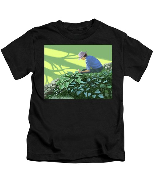 The Solace Of The Shade Garden Kids T-Shirt