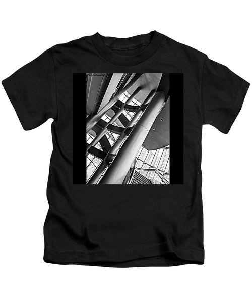 The #stairway In Our #downtown #houston Kids T-Shirt