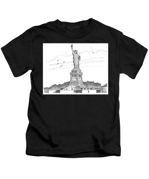 The Statue Of Liberty Lighthouse Kids T-Shirt