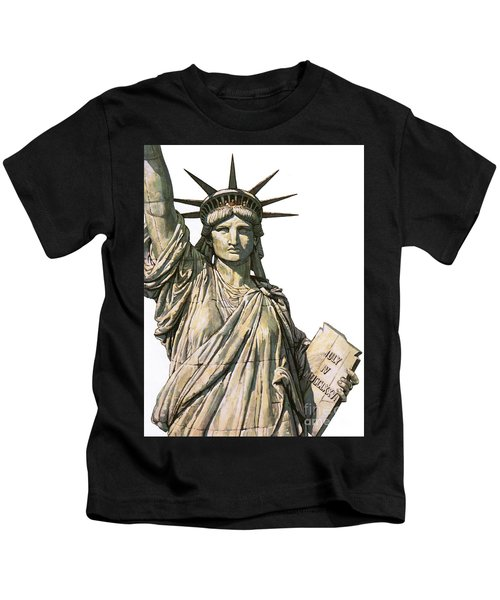 The Statue Of Liberty On Bedloe's Island, New York Kids T-Shirt