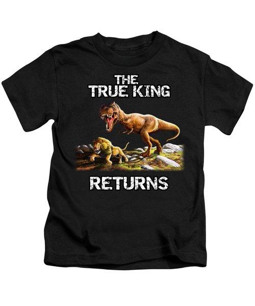 The True King Returns Kids T-Shirt