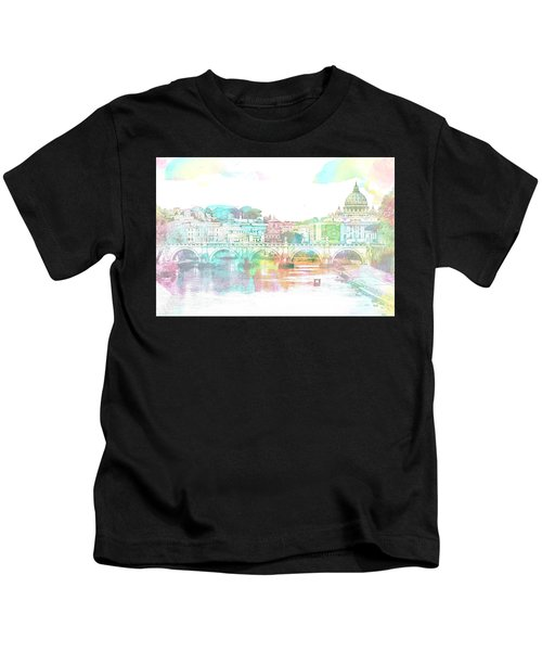 The View From Castel Sant'angelo Towards Ponte Sant'angelo, Brid Kids T-Shirt