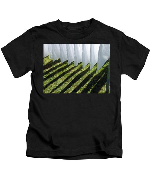 The Washing Is On The Line - Shadow Play Kids T-Shirt