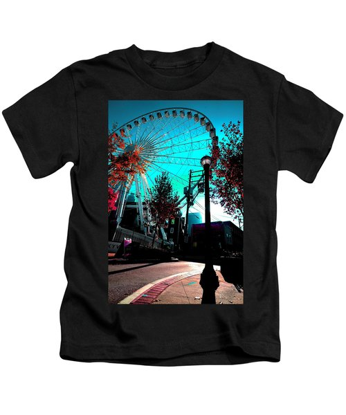 The Wheel Blue Kids T-Shirt
