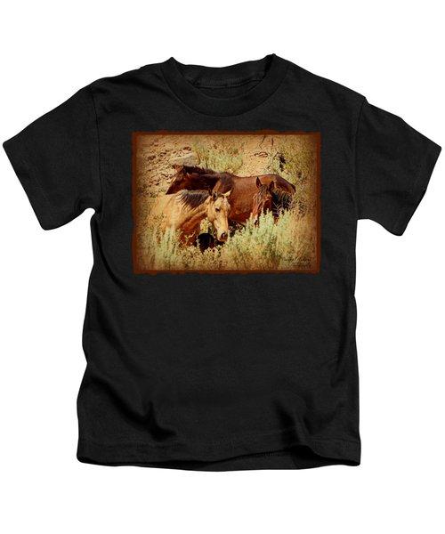 The Wild Horse Threesome Kids T-Shirt