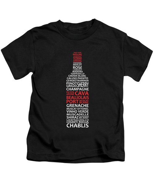 The Wine Connoisseur Kids T-Shirt by Mark Rogan