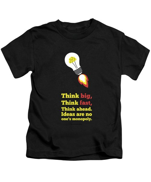 Think Big Think  Ahead Motivational Typography Art Inspirational Poster Kids T-Shirt