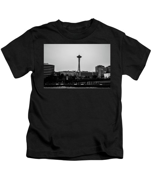 This Is Seattle Black And White Kids T-Shirt