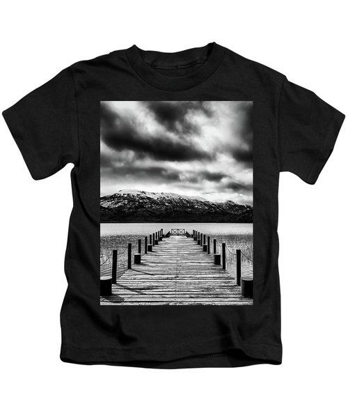 Dramatic Black And White Scene In The Argentine Patagonia Kids T-Shirt