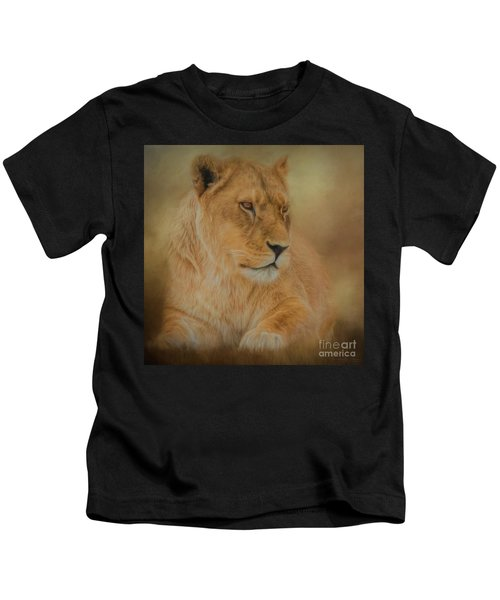Thoughtful Lioness - Square Kids T-Shirt