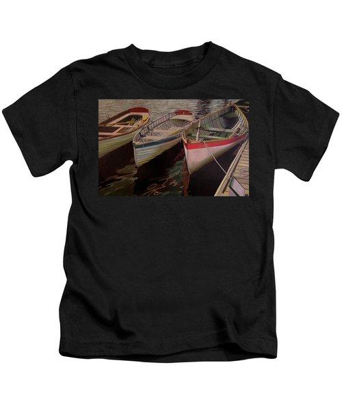 Three Boats Kids T-Shirt