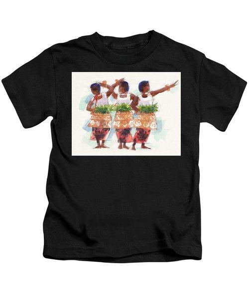 Three Fijian Dancers Kids T-Shirt