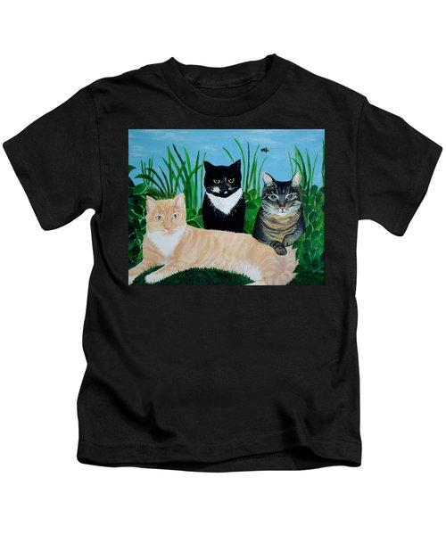 Three Furry Friends Kids T-Shirt