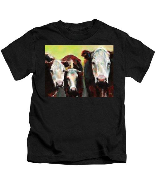 Three Generations Of Moo Kids T-Shirt