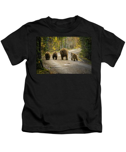Three Little Bears And Mama Kids T-Shirt