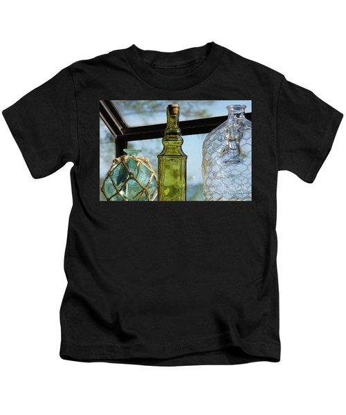 Thru The Looking Glass 3 Kids T-Shirt by Megan Cohen