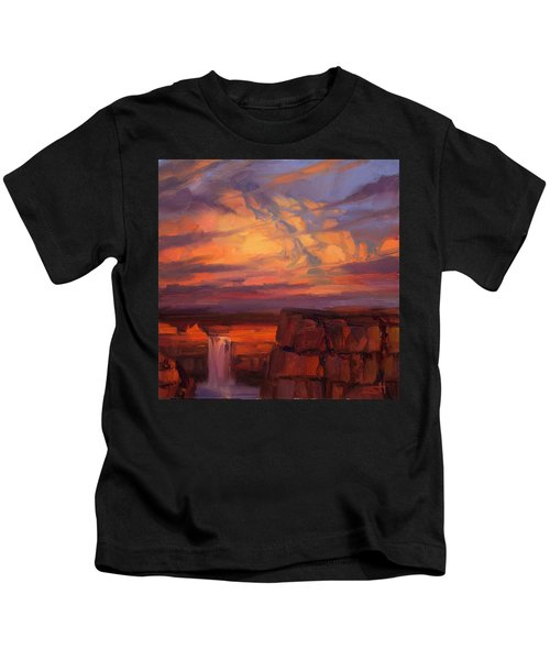Thundercloud Over The Palouse Kids T-Shirt