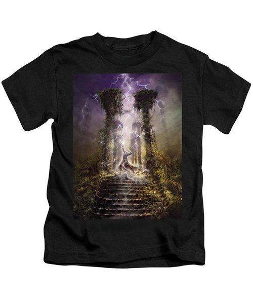 Thunderstorm Wizard Kids T-Shirt