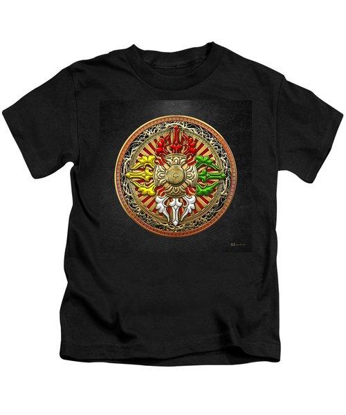 Tibetan Double Dorje Mandala Kids T-Shirt