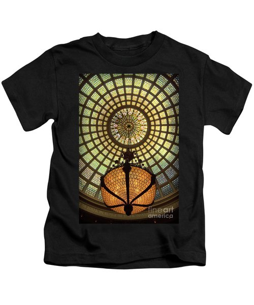 Tiffany Ceiling In The Chicago Cultural Center Kids T-Shirt