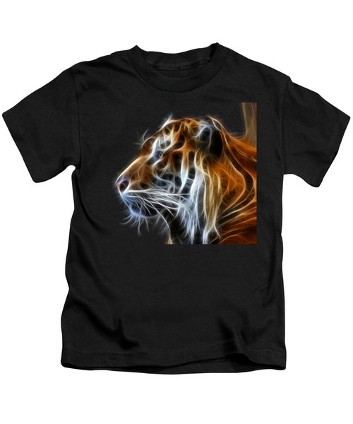Tiger Fractal Kids T-Shirt