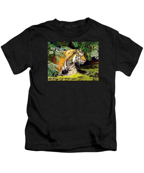 Tiger In The Sunderban Delta Kids T-Shirt