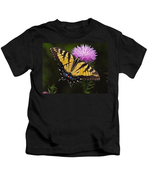 Kids T-Shirt featuring the photograph Tiger Swallowtail by William Jobes